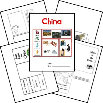 China Country Lapbook from Homeschool Share matches The Story About Ping from Five in a Row Volume I