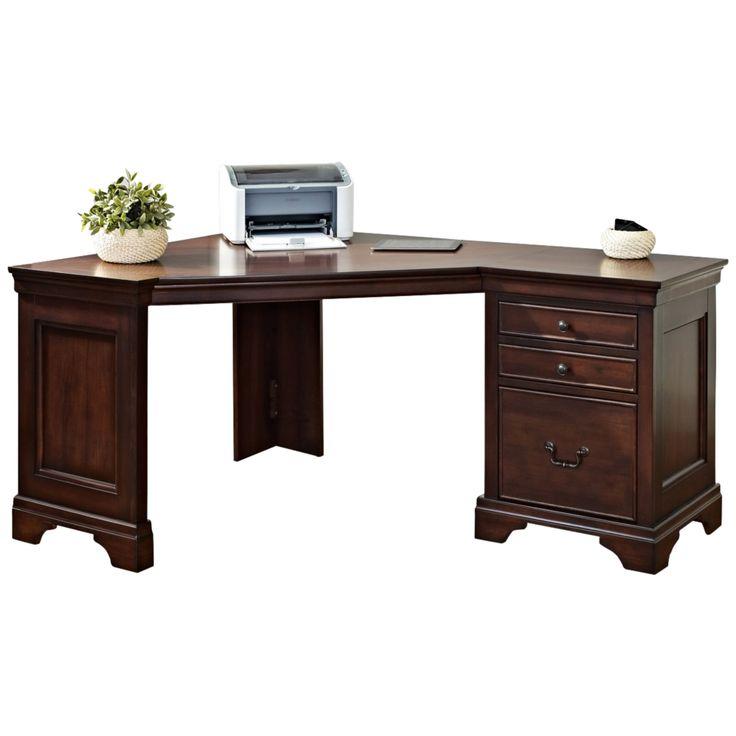 Belcourt Delmont Cherry Corner Computer Desk - Style # 4M655