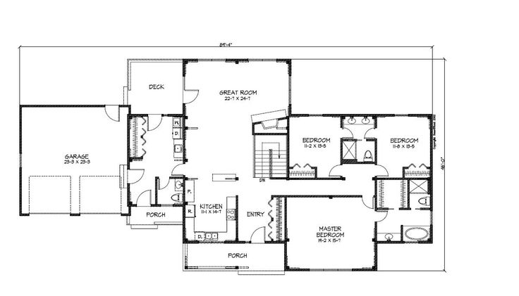 Ranch style open floor plan ranch style house plans for Pre designed home plans