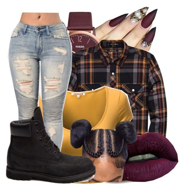 """""""Untitled #2297"""" by kayla77johnson ❤ liked on Polyvore featuring FOSSIL, 21 Men, Masquerade and Timberland"""