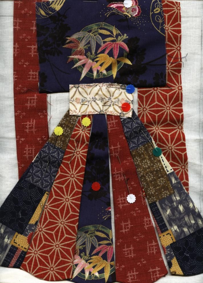 Julia's Place: Japanese Quilt.... working on the Kimono Block
