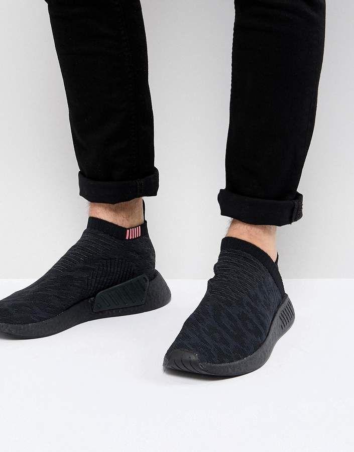 58a357a5f764b adidas Originals NMD CS2 Primeknit Boost Sneakers In Black CQ2373 in ...