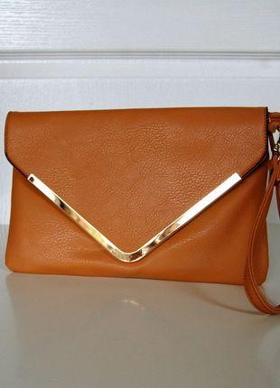Kup mój przedmiot na #vintedpl http://www.vinted.pl/damskie-torby/kopertowki/9688331-brazowa-kopertowka-torebka