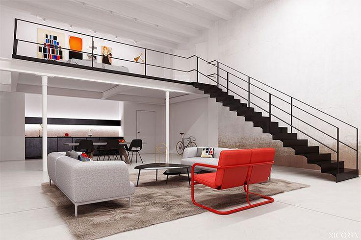 159 beste afbeeldingen over split level op pinterest house appartementen en galeries - Beton muu room in ...
