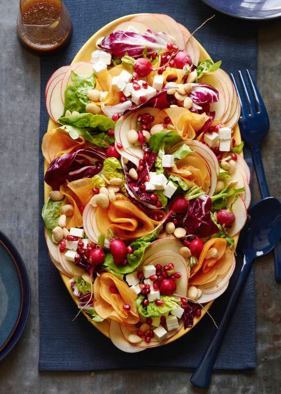 Fall Harvest Salad from www.whatsgabycooking.com is easily the most beautiful AND easy salad! Perfect to add to your Thanksgiving menu (@whatsgabycookin)