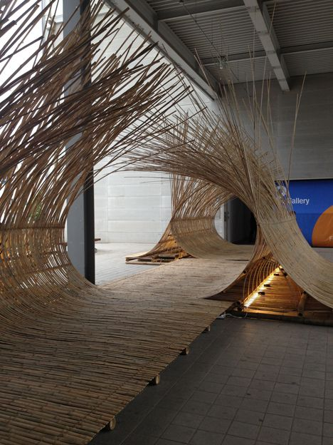 telepathy bamboo installation - gwangju design biennale - south korea - kengo kuma