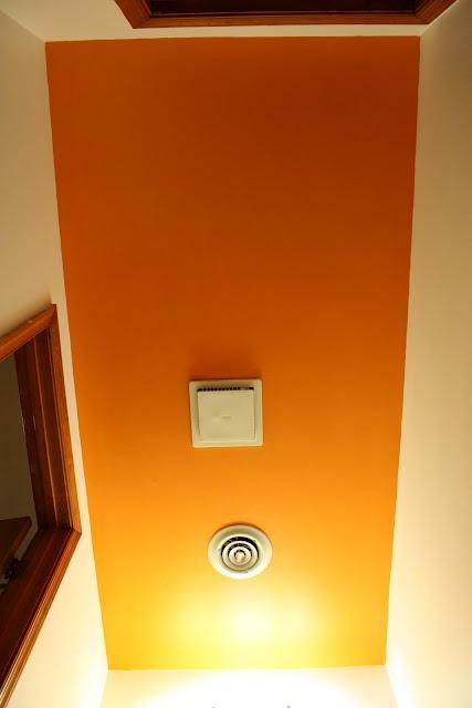guest/kids bathroom... paint ceiling