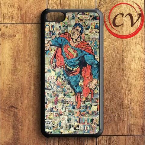 Superman Comic Collage iPhone 5C Case