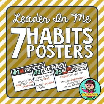 Leader In Me - 7 Habits Posters                              …