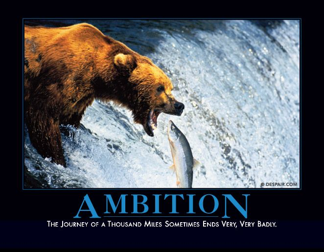 Fish Motivational Quotes: AMBITION The Journey Of A Thousand Miles Sometimes Ends
