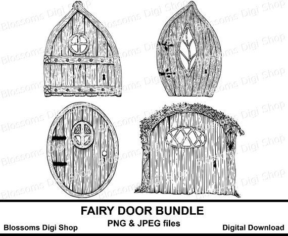 Fairy Door Bundle Gnome Png Digital Download Hand Drawn Clipart Fairy Art Pixie Door Png Elf Colouring Page Fae Png Fairy Scrapbook In 2021 Elf Coloring Page Digital Stamps How To