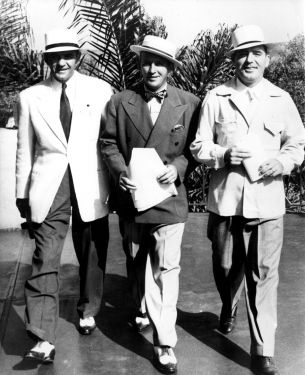 Del Mar Racetrack: General Manager Bill Quigley, President Bing Crosby, and Vice President Pat O'Brien were more than a management team in the early days of Del Mar.  They created a Del Mar lifestyle that endures to this day.