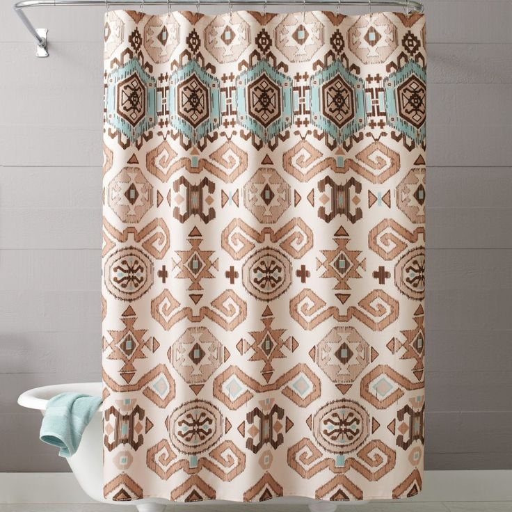 Best 25 Southwestern Shower Curtains Ideas On Pinterest Southwestern Shower Doors Native