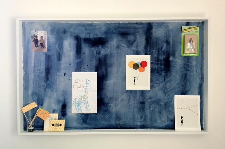 Collage acrylic frame kids shadow box diy ideas for Painted cork board ideas