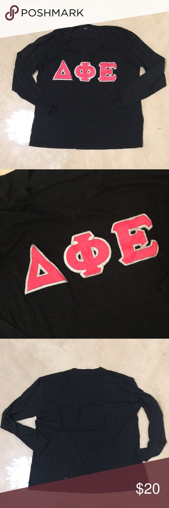 Delta Phi Epsilon Lettered LS TOP American Apparel Gorgeous! Size XL American Apparel Tops Tees - Long Sleeve
