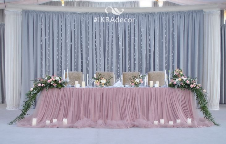 Wedding table decoration The idea of ​​wedding design