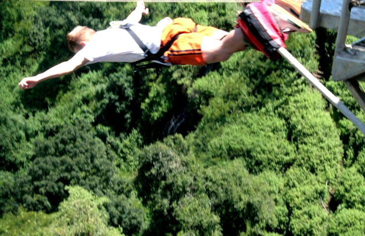 Victoria Falls Bungee! My son Leo made it too!