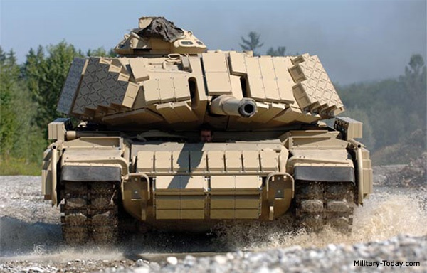 M60 MBT outfitted with what appears to be explosive reactive armour; makes the daily commute a whole lot more interesting ;-)