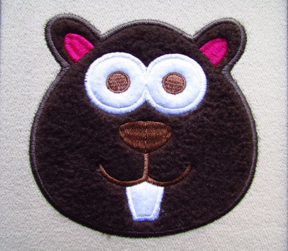 Beaver applique embroidery design instant download for Bathroom designs for 7x4