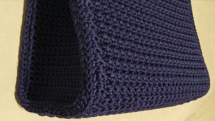 Tutorial - Come cucire i laterali ad una borsa uncinetto - Crochet