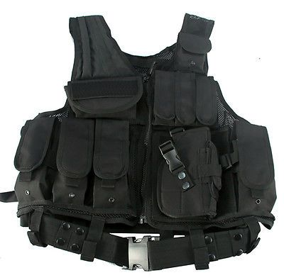 Black #tactical vest  / combat #assault #airsoft army molle attachment rig top,  View more on the LINK: http://www.zeppy.io/product/gb/2/271687421061/