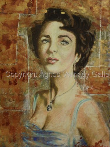Portrait of Elizabeth Taylor by Agnes Varnagy Gallery