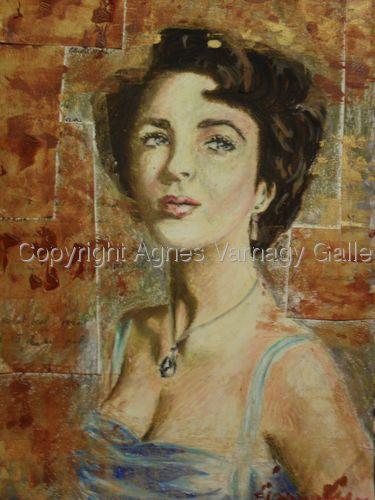 Portrait of Elizabeth Taylor by Agnes Varnagy Gallery