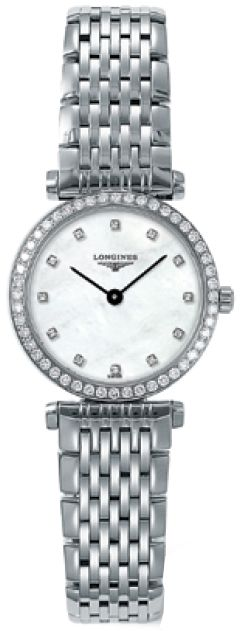 L4.241.0.80.6  NEW LONGINES LA GRANDE CLASSIQUE LADIES WATCH IN STOCK   - FREE Overnight Shipping | Lowest Price Guaranteed    - NO SALES TAX (Outside California)- WITH MANUFACTURER SERIAL NUMBERS- White Mother of Pearl Diamond Dial- 12 Diamonds Set on Dial (.034ct) - 48 Diamonds Set on Bezel (.403ct) - Battery Operated Quartz Movement- 3 Year Warranty- Guaranteed Authentic- Certificate of Authenticity- Polished Steel Case