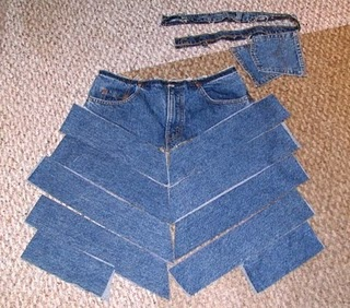 Refashion Jeans to Skirt