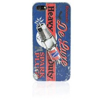 Tin Plate iPhone 5 case - Spark Plug