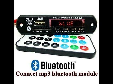 How to connect mp3 bluetooth module   How to connect mp3 bluetooth