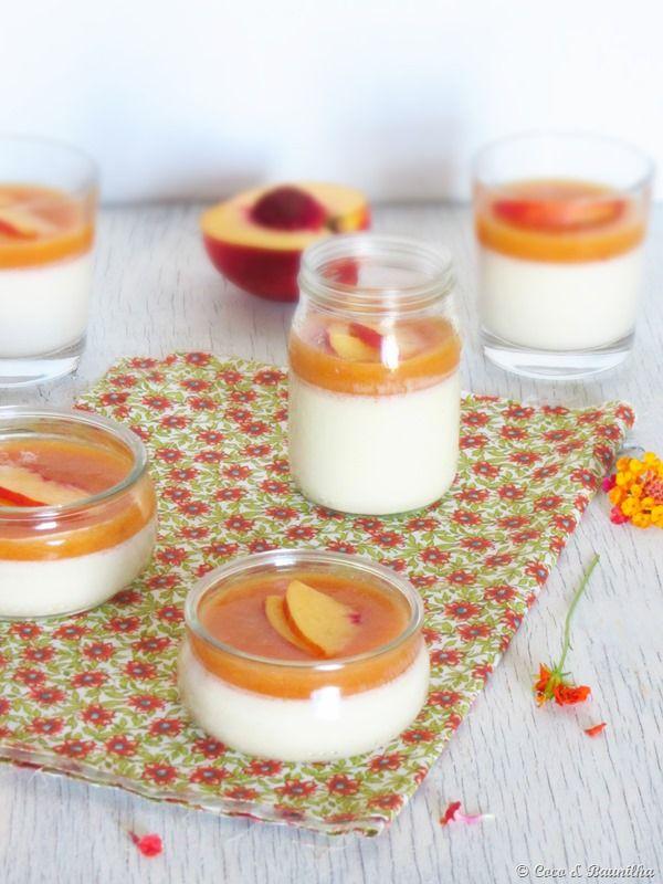 Creme de limão e flor de laranjeira com coulis de nectarina