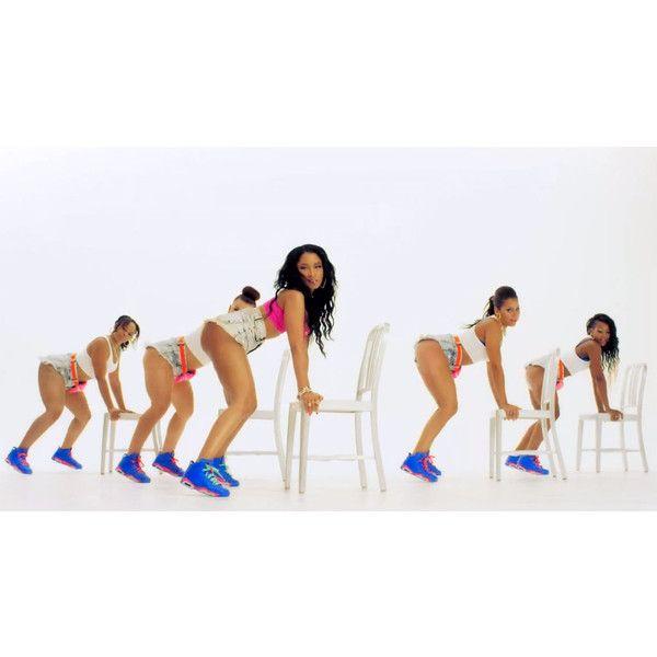 All the Air Jordans Spotted in Nicki Minaj's 'Anaconda' Video (NSFW) ❤ liked on Polyvore featuring people and nicki minaj