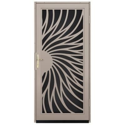 images of unusual screen doors | ... Security Door with Black Perforated Screen and Satin Nickel Hardware