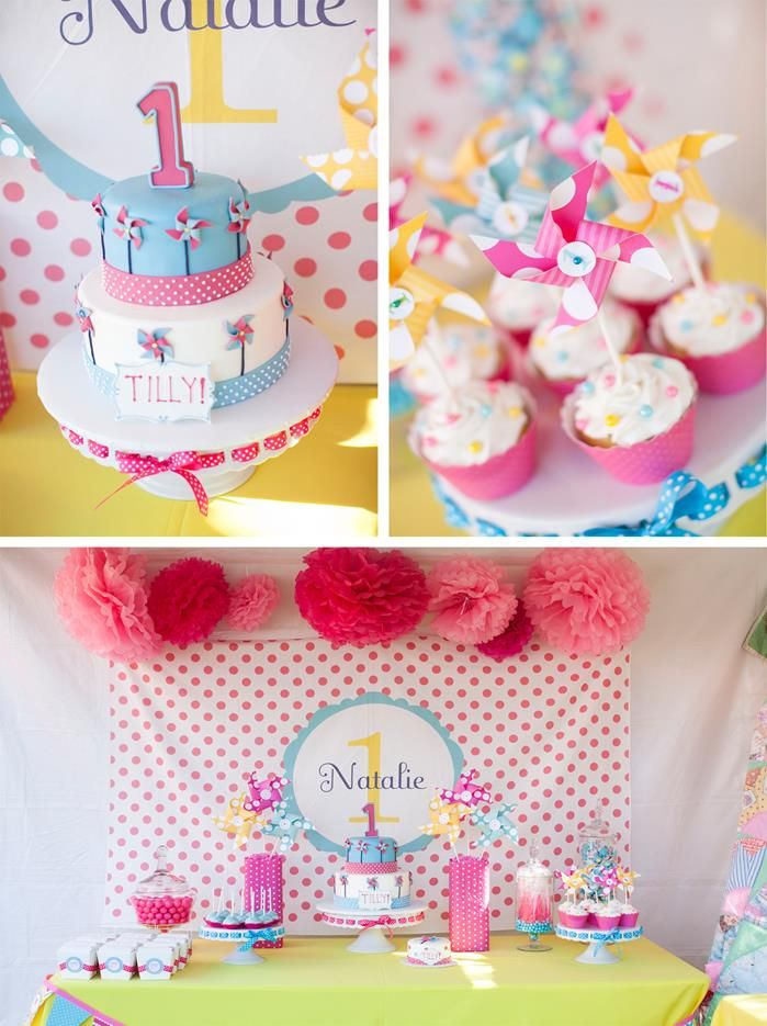 Pinwheels And Polka Dots 1st Birthday Party With Full Of Adorable Ideas LittleGirl