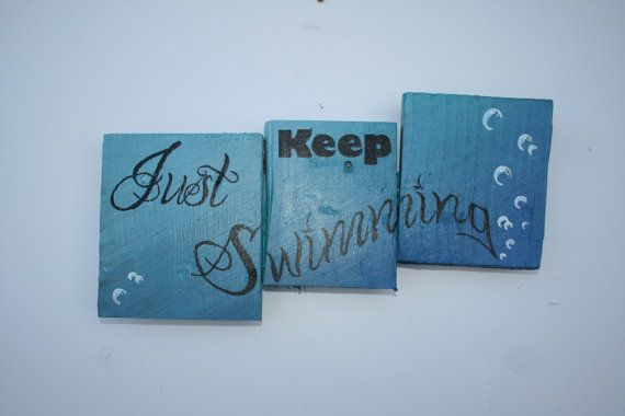 Disney inspired Just Keep Swimming Pallet Art $22