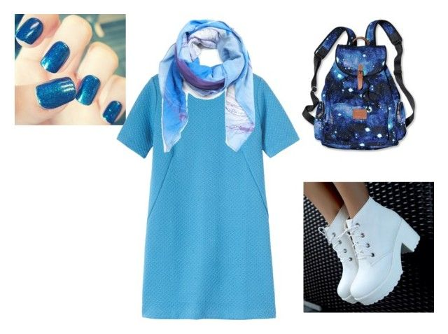"""Color of the day/ Delphinium Blue"" by cata-caicedo on Polyvore"