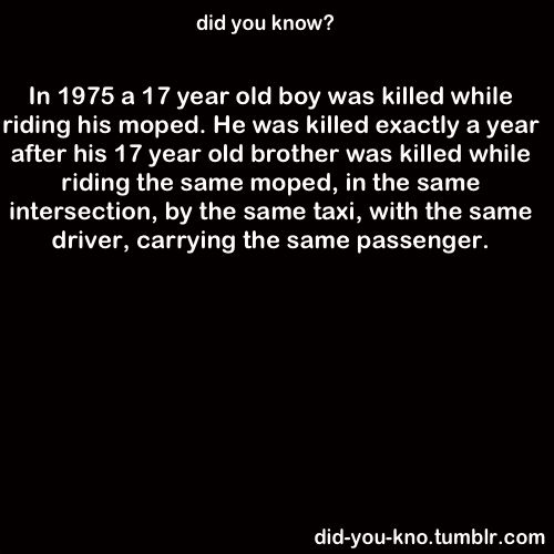 I don't know if this is true or not, but if so, it's an amazing coincidence, as well as super-tragic.