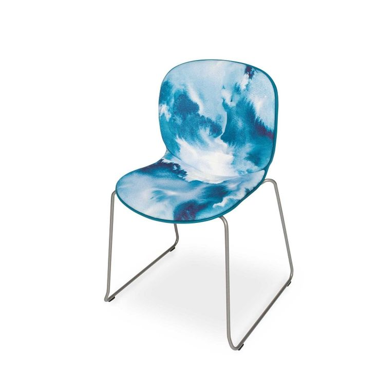 RBM Noor chair x Baltic Sea | Sledge by Teija Vartiainen | FEATHR™    Featuring a bold and contemporary designer fabric by Teija Vartiainen. The luxurious textures of this unique fabric design were inspired by the shifting colours and moods of the Scandinavian Baltic Sea.  The sketch was painted with aquarelles on wet paper.