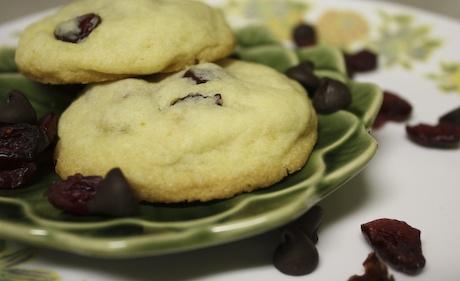 cranberry, orange, and dark chocolate chip cookie recipe from Slashfood (these were amazing!)