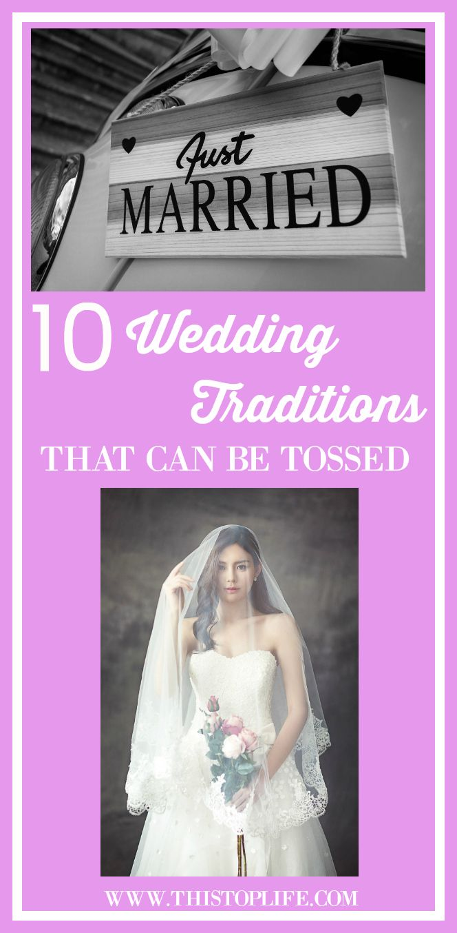 Click to see which wedding traditions can be tossed when you plan your wedding!