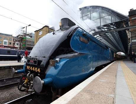 Trainspotters turn out at London's King's Cross to see Bittern locomotive