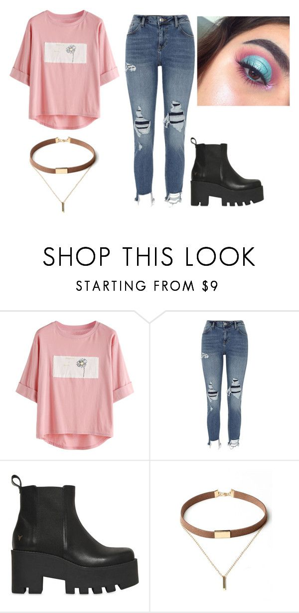 """""""I know I'm my own worst enemy I've got a double sided mind But I swear I'll get better, I'll get better this time"""" by jasmine-quarry ❤ liked on Polyvore featuring River Island, Windsor Smith, WithChic, Tshirt, Cut and distresseddenim"""