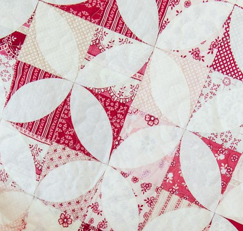 Orange Peel ...version ... Free quilt pattern.