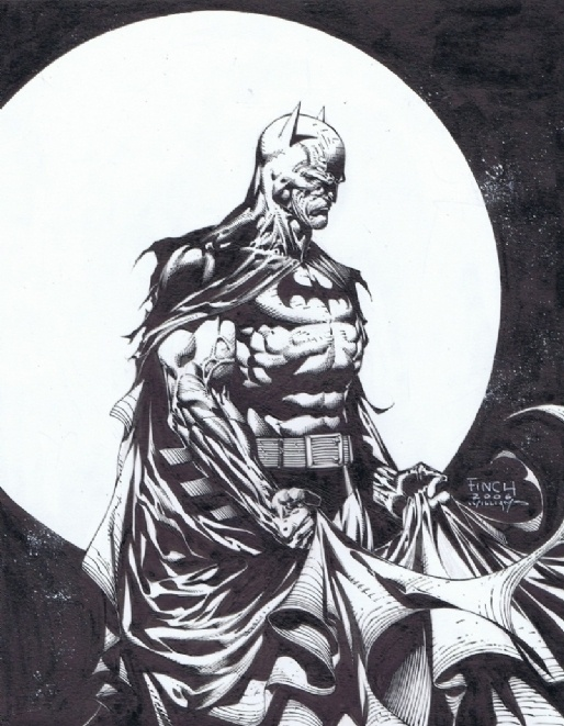 David Finch and Scott Williams BATMAN Comic Art
