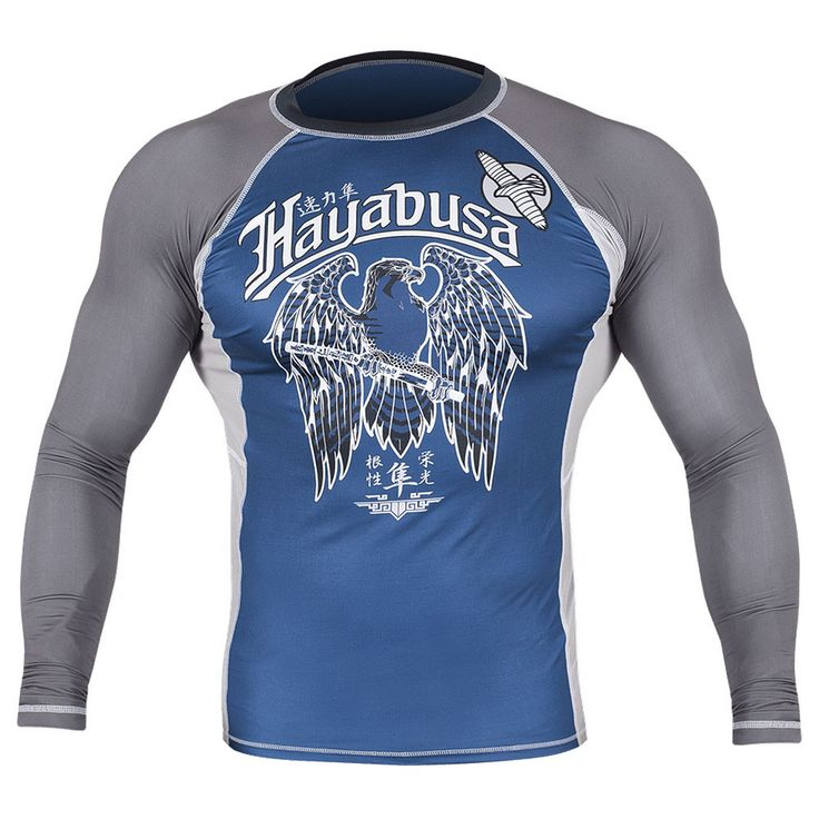 The Hayabusa Showdown Longsleeve Rashguard proves that not all rashguards are created equal. Train in the best with the best technical apparel! Optimized with Hayabusa's high performance tensile fabric for ultimate comfort and flexibility Long Sleeve Smooth stitch finishing to prevent chafing and fiber-fused graphics for uncompromised durability Maximizes protection against cuts, scrapes, and rashes Keeps your body dry and muscles warm, for maximum performance