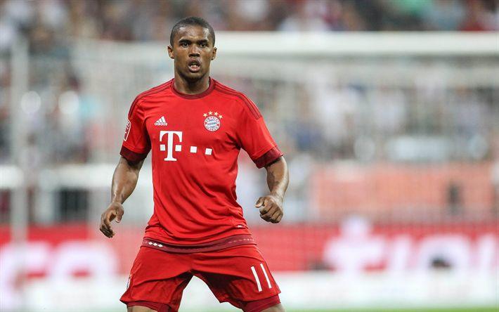 Download imagens Douglas Costa, 4K, retrato, Brasileiro jogador de futebol, O Bayern De Munique, Alemanha
