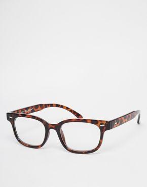Vergrößern AJ Morgan – Wayfarer-Brille mit klaren Gläsern