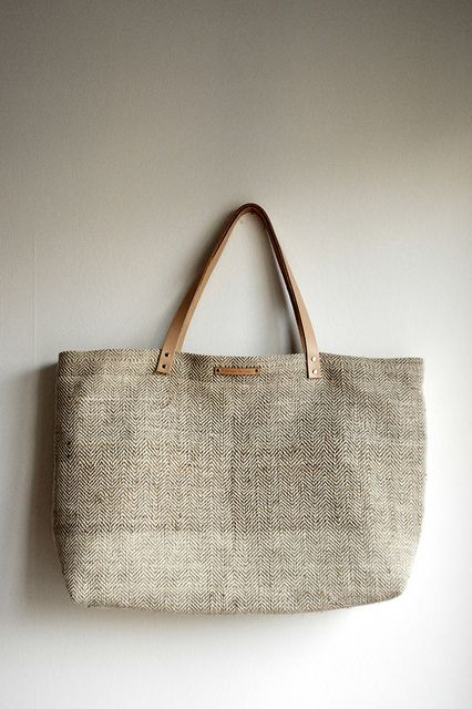 Hemp and cotton shopping tote | // Between the Lines // | Flickr