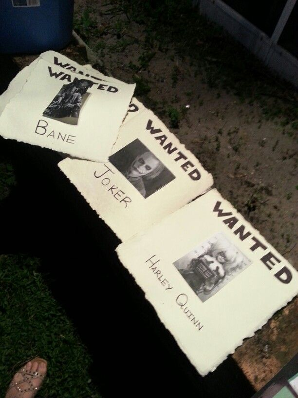 Wanted posters.. Super easy.. Just print outs, black sharpie n poster from Michaels